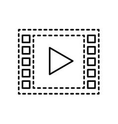 video player web digital social media vector image vector image