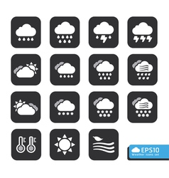 Weather web icons set for web template vector