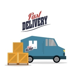 Truck box package delivery icon graphic vector