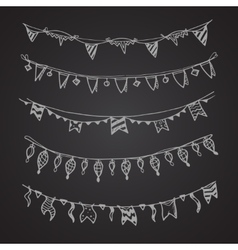 Celebration holiday garland lamps christmas and vector