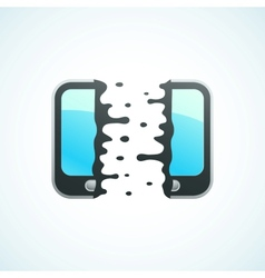 Split mobile phone vector