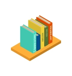 Set of books and tutorials isometric flat vector