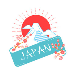 icon japan day vector image