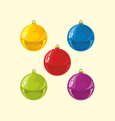 Multicolored christmas tree decorations vector