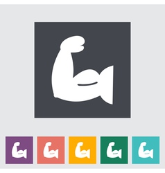 Icon of bodybuilding 2 vector
