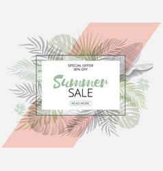 Summer sale trendy tropical design hand draw vector