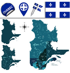 Regions of quebec canada vector