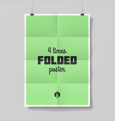 Four times folded poster vector