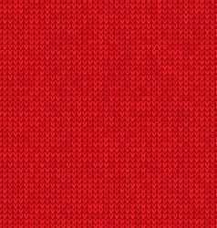 Knitted red background vector