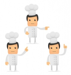 set of funny cartoon chef vector image