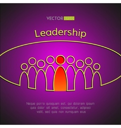 A team of people with a leader leadership vector