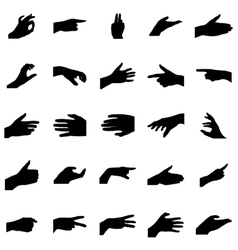 Hands silhouettes set vector image