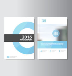 Blue circle annual report leaflet brochure flyer vector