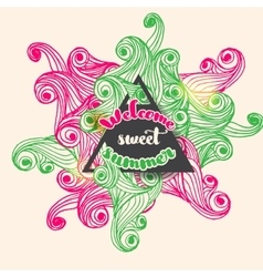 Welcome sweet summer typographic bright vector