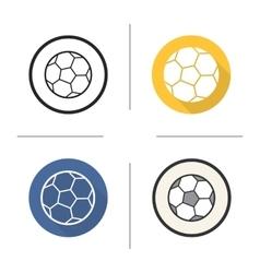Soccer ball icons vector