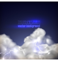 Abstract background with storm clouds and vector