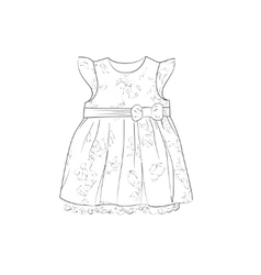 Baby dress sketch vector