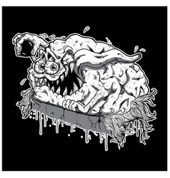 brain monster vector image vector image