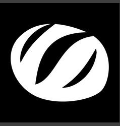 Bread white color icon vector