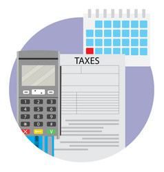 Date of taxation icon app vector