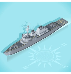 Destroyer 01 vehicle isometric vector