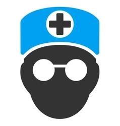 Doctor Head Icon vector image