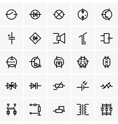 Electronic components icons vector