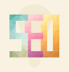 flat design modern concept of seo word vector image