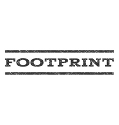 Footprint watermark stamp vector