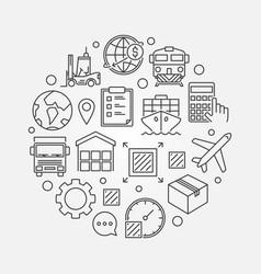 Global logistics circular symbol vector