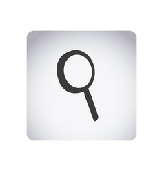 Gray emblem magnifying glass icon vector