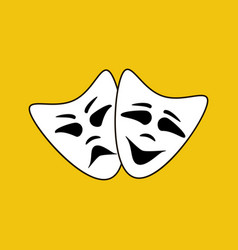 Happy and evil mask vector