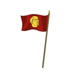 Humor red scarlet banner with the leader of lenin vector