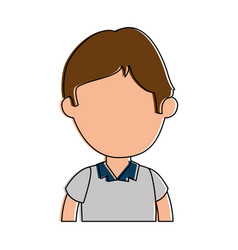 Little boy student with uniform character vector