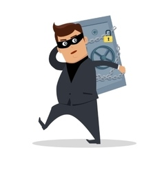 Money Stealing Concept Flat Design vector image