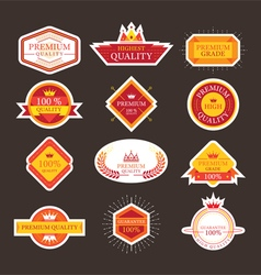 Premium Quality Guarantee Labels and Badges vector image