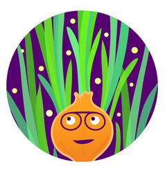 Reggae veggie funny carrot character vector
