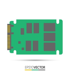 SATA solid state drive SSD vector image vector image