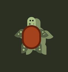 Sea turtle icon in sticker style vector