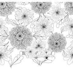 Seamless pattern with dahlia flowers vector image vector image