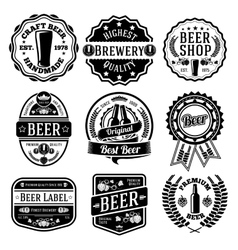 set of beer labels and emblems vector image
