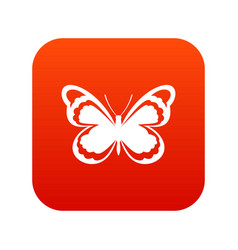 Small butterfly icon digital red vector