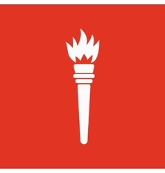 The torch icon torch symbol flat vector