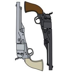Wild west revolvers vector