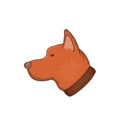 Head of dog icon cartoon style vector image