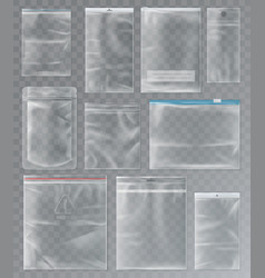 set of isolated sachet or packs bags vector image