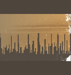 Dark city vector