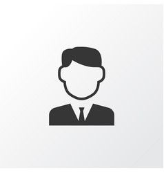 businessman icon symbol premium quality isolated vector image