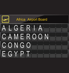africa country airport board information vector image