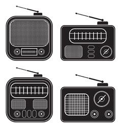 Retro radio receivers vector